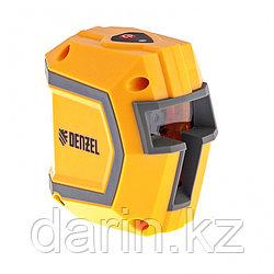 Уровень лазерный LX1, 10 м ± 0.5 мм/1 м, 635 нм, 1 вертикальная, 1 горизонтальная плоскости, резьба 1/4 Denzel