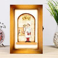 Ключница книжка деревянная Повар 24 х 16 х 5,5 см