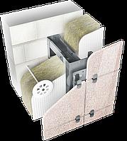 Навесной вентилируемый фасад для облицовки керамогранитом