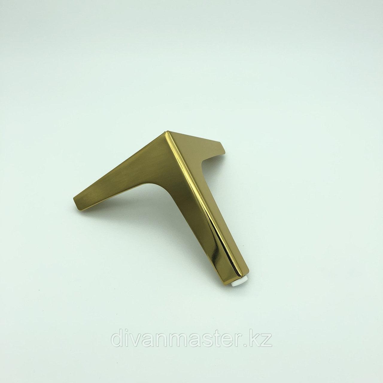 Ножка стальная, для диванов и кресел, золото 15 см