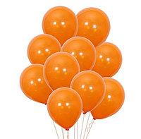 Воздушные шары оранжевые без рисунков 100 шт.