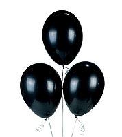 Воздушные шары черные без рисунков 100 шт.