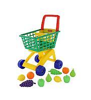 Тележка для супермаркета и набор продуктов №6 (19 элементов)