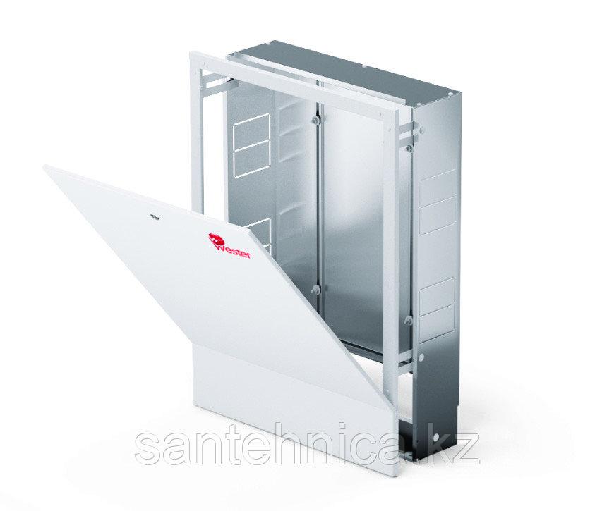 Шкаф коллекторный встраеваемый сталь ШРВ-4 850х120-180х648-711мм Wester