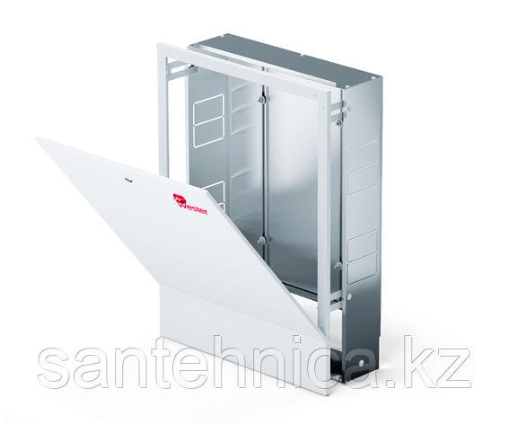 Шкаф коллекторный встраеваемый сталь ШРВ-4 850х120-180х648-711мм Wester, фото 2