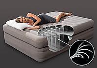 Высокая двуспальная надувная кровать Интекс 203*152*51cм, фото 1