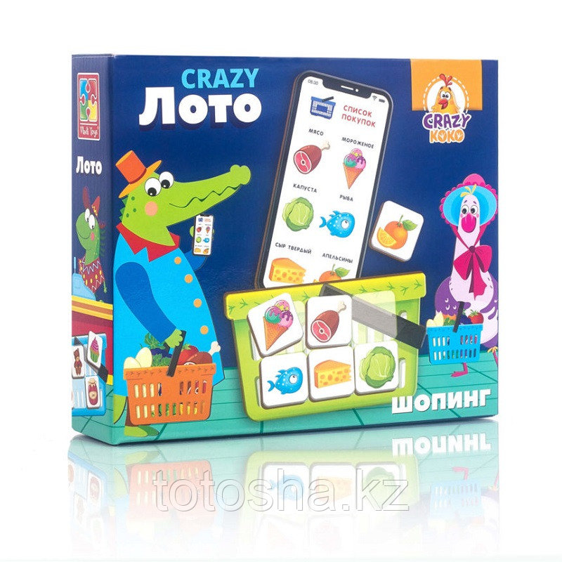 """Игра настольная """"Crazy Лото"""" VT8055-03"""