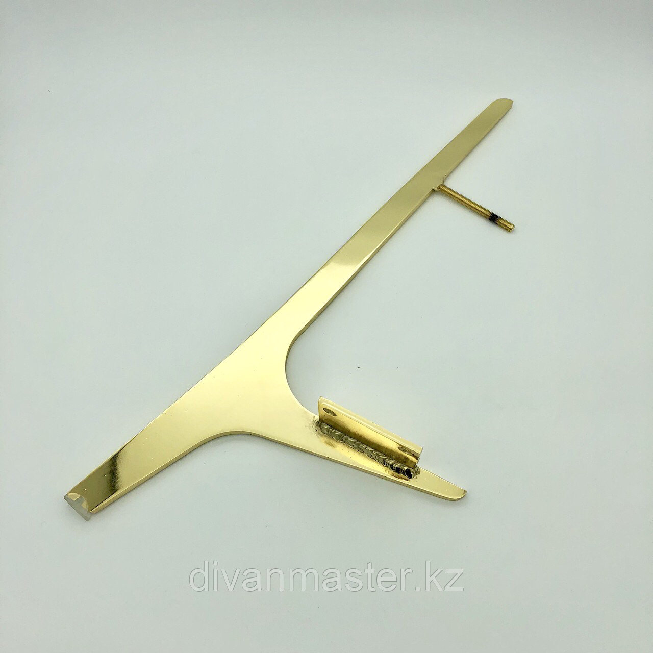 Ножка стальная, для диванов и кресел,золото 50 см