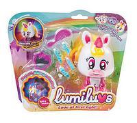 Ночник детский - Единорог Candy с аксессуарами, бело-розовая Lumiluvs