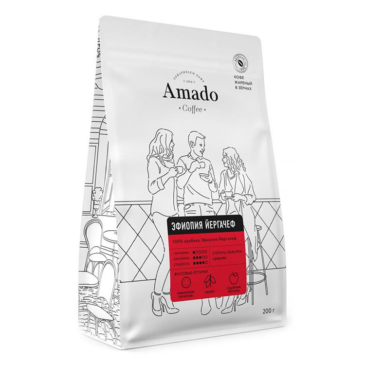 Эфиопия Йоргачеф Кофе в зернах 200г