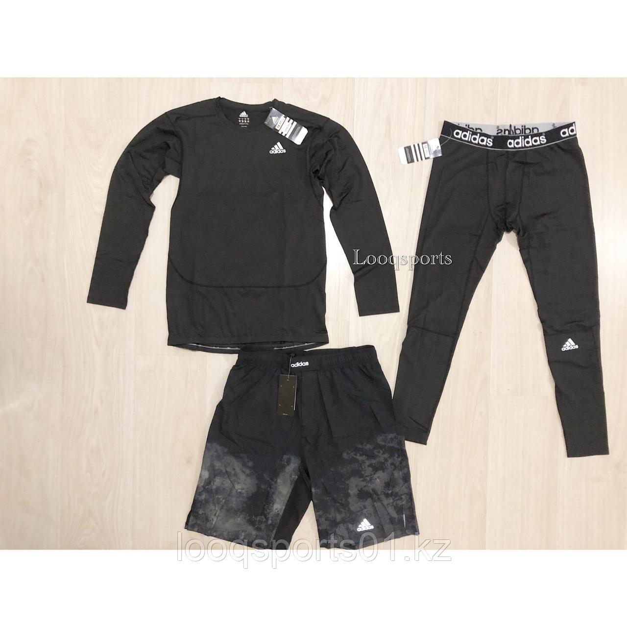 Комплект 3в1 Adidas (Рашгард + шорты мма + леггинсы)