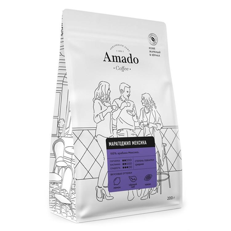 Марагоджип Мексика Кофе в зернах 200г