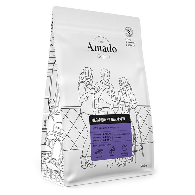 Марагоджип Никарагуа Кофе в зернах 200г