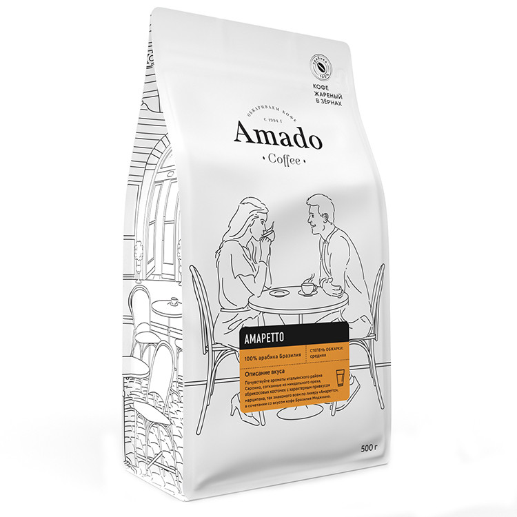 Амаретто Кофе в зернах 500гр