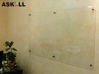 Прозрачная доска 1000*1500мм, ASKELL c внешними креплениями (KRYSTALL), фото 2