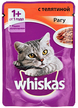 Влажный корм для кошек Вискас Рагу Телятина