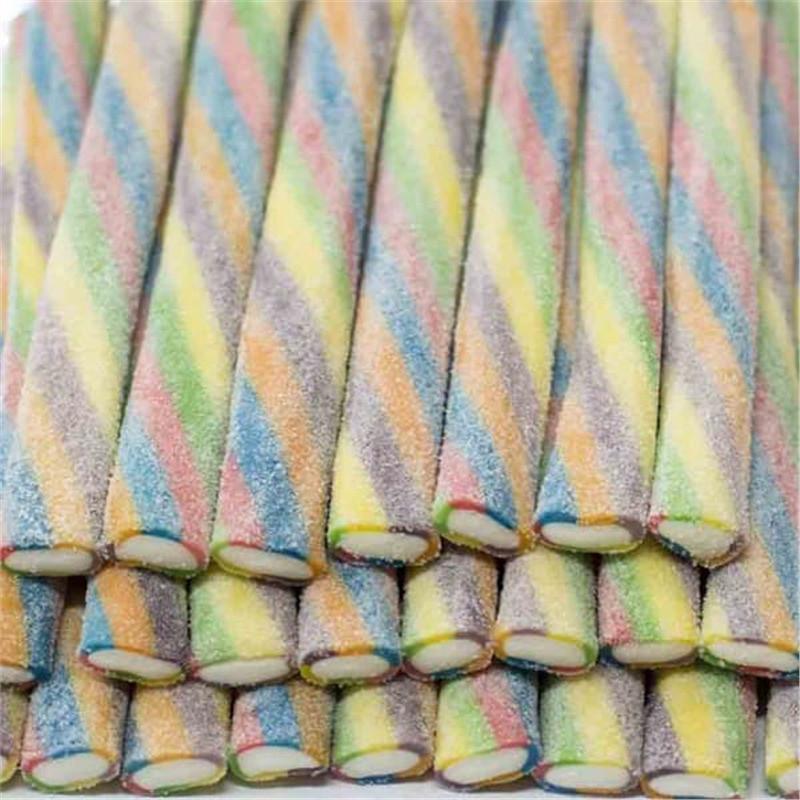 """Жевательный мармелад """"Палочки Торнадо 6-цветов кислый в сахаре"""" FINI Испания 1,8кг"""