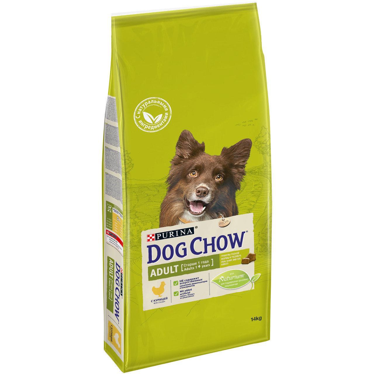 Сухой корм Дог Чау для взрослых собак с ягненком и рисом