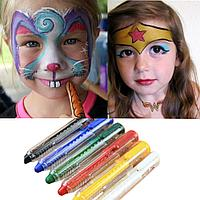 Краски для лица, аквагрим для детей и взрослых, 12 цветов
