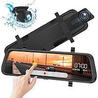Видеорегистратор автомобильный  Зеркало На Полный Экран - 2 камеры (+ заднего вида) FullHD Android DVR L1023, фото 1