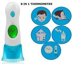 Детский бесконтактный инфракрасный термометр-градусник P&C 8 в 1, фото 3
