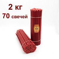 Свечи Восковые  красные цена от 130 тенге время горения 4 часа. Длина свечи 355мм
