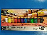 Краски гуашь, 12 цветов, в пластиковой тубе, 12 мл, в картонной коробке, фото 2