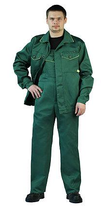 """Костюм рабочий, летний, мужской, с полукомбинезоном. """"Дока"""" зеленый, фото 2"""