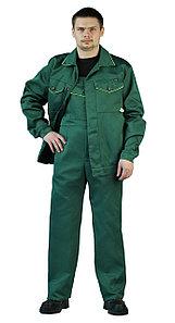 """Костюм рабочий, летний, мужской, с полукомбинезоном. """"Дока"""" зеленый"""