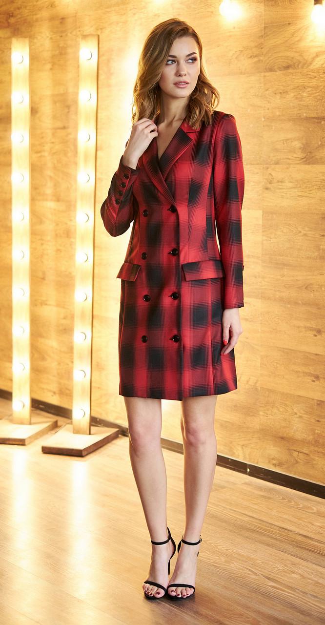 Платье Fantazia Mod-3304/1, красный с чёрным, 44