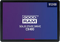 "SSD 512GB  GOODRAM CX 400 2.5"" SATA3 R550Mb/s W490MB/s 7mm SSDPR-CX400-512"