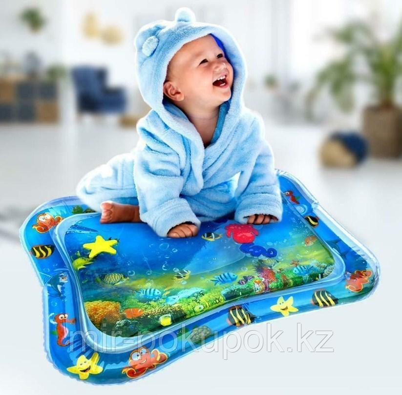 Надувной детский водяной коврик для младенцев (игровой акваковрик)