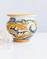 Ваза-горшок(круглая) ручной работы, керамика. Италия