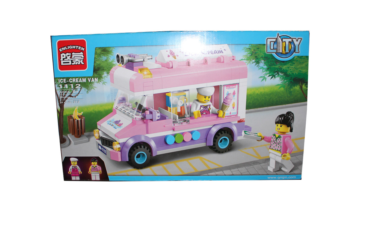 Лего машина с мороженм 1112