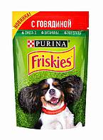 Фрискис Влажный корм для собак с говядиной в подливе