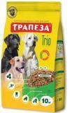 Трапеза ТРИ вида мяса 10кг Сухой корм ля взрослых собак всех пород