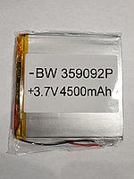 Аккумулятop 3,7v 4500mAh BW 359092P 4x87x90mm  для планшета