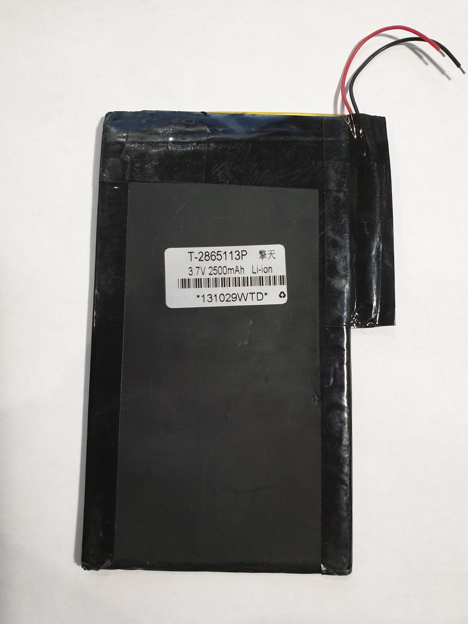 Аккумулятop 3,7v 2500mAh T-286511P (A1376) 3x63x114mm  для iPad 2