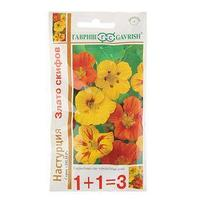 Семена цветов Настурция 'Злато Скифов', смесь, О, 3,0 г (комплект из 10 шт.)