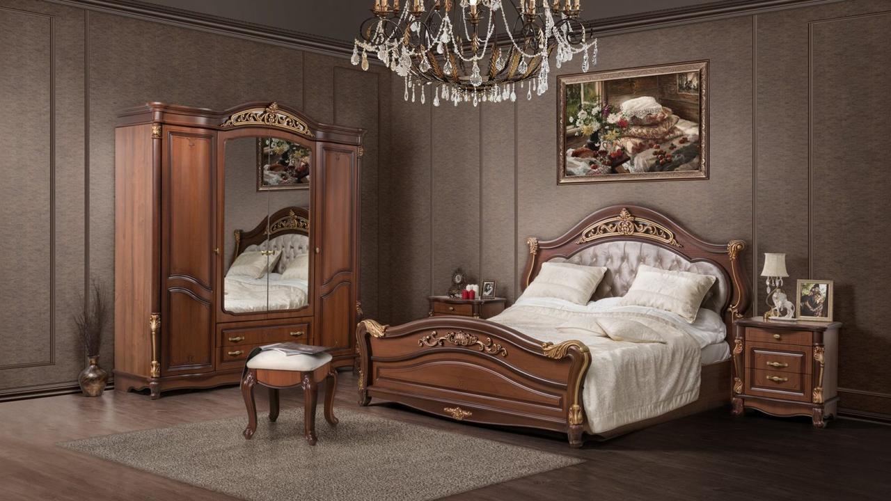 КАССАНДРА спальный гарнитур, 6Д, орех