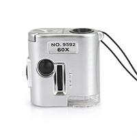 Портативный мини микроскоп с увеличительным стеклом 60x