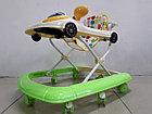 Практичные ходунки Машинка на гелевых колесах и задним толкателем, фото 6