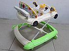 Практичные ходунки Машинка на гелевых колесах и задним толкателем, фото 8