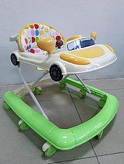 Практичные ходунки Машинка на гелевых колесах и задним толкателем