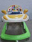 Практичные ходунки Машинка на гелевых колесах и задним толкателем, фото 2