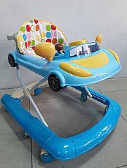Популярные ходунки Машинка на гелевых колесах и задним толкателем