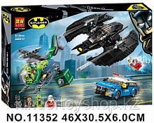 Конструктор Lari аналог лего LEGO 76120 Super Heroes DC Comics Бэткрыло Бэтмена и ограбление Загадочника 513 д