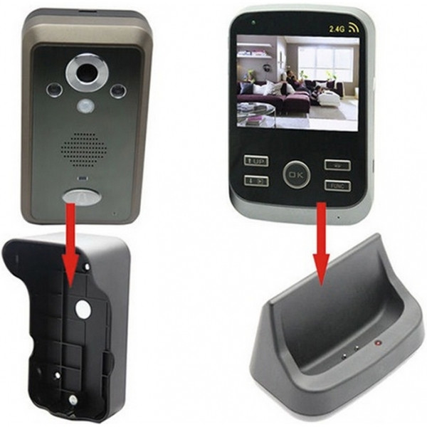Беспроводной видеодомофон с датчиком движения и записью фото Kivos Black (ФОТО-302)