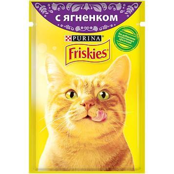 Влажный корм Фрискис для кошек с ягненком в подливе