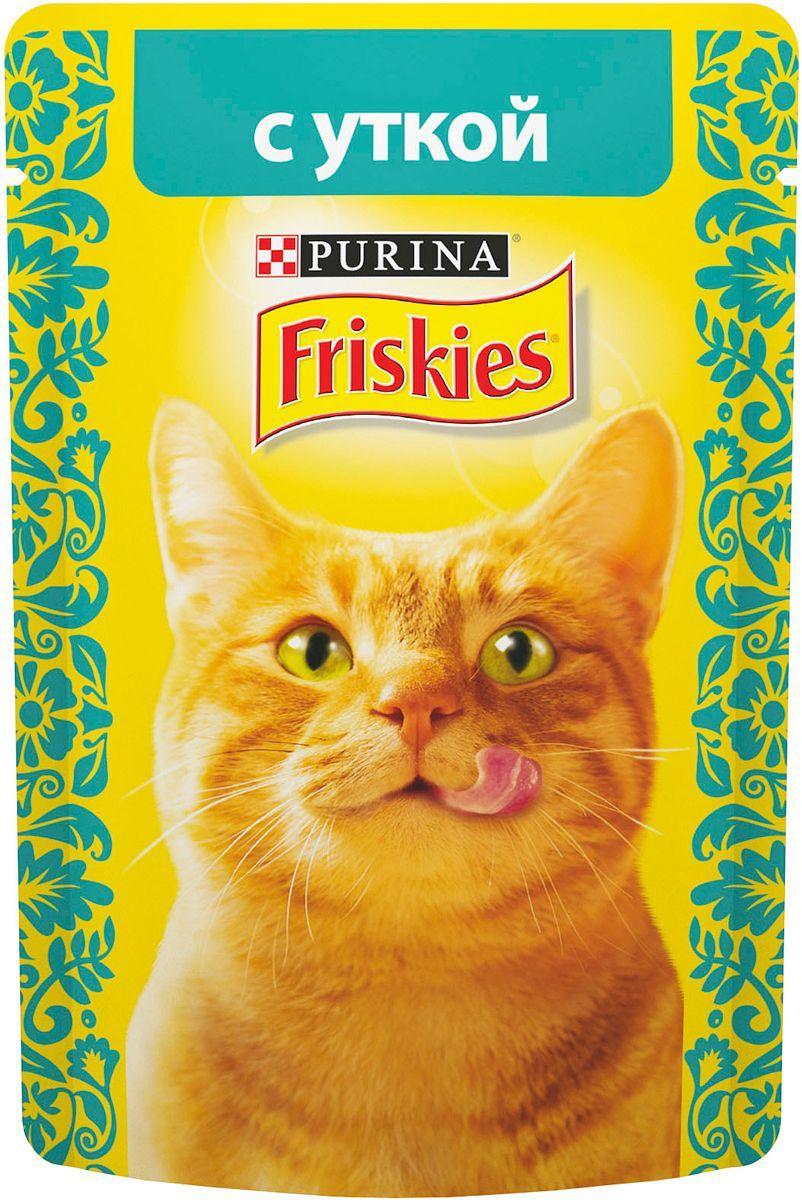Влажный корм Фрискис для кошек с уткой в подливе